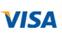 We accept Visa.